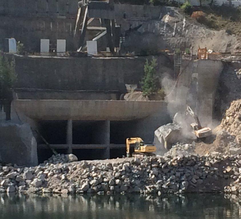 Excavation hydraulique / tunnel