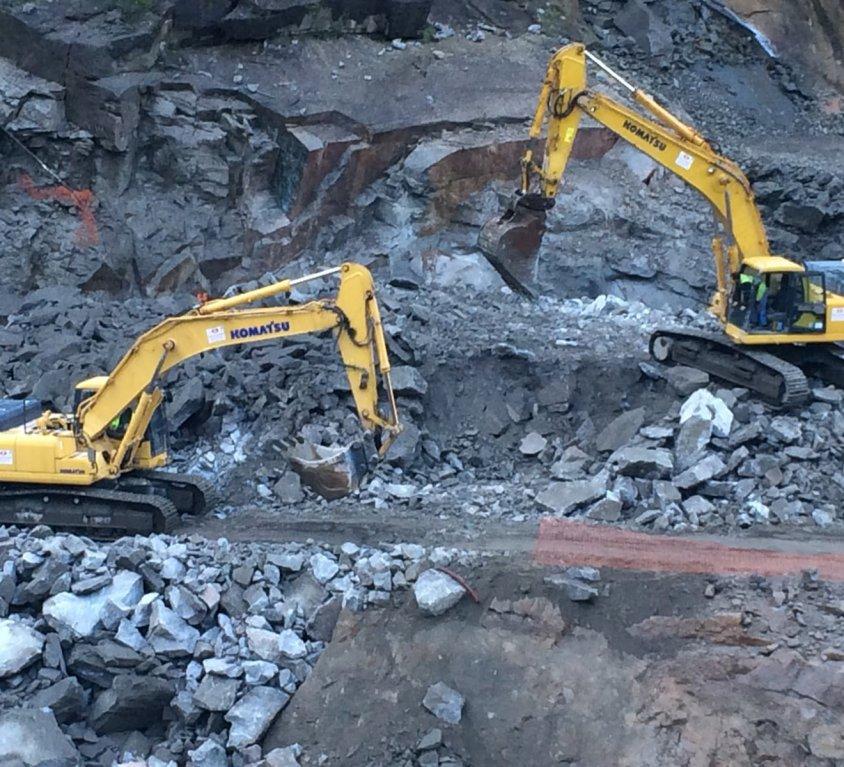 démantèlement des roches