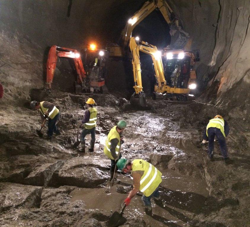 Nettoyage du tunnel